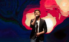 Actuación de Diego Martín durante la Gala Maestros Hosteleros '17