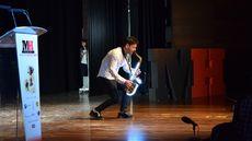 Actuación del artista leonés LuGotti.
