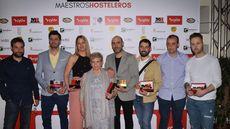 Varios de los premiados en los II Premios Maestros Hosteleros.