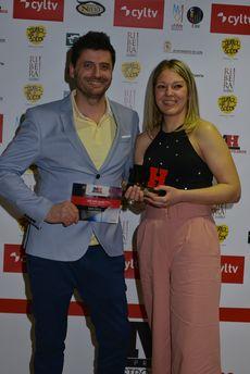 Óscar Suárez y Cristina García, del bar Zielo, ganadores del Premio Ribera del Duero al Mejor Bar.