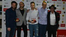 Miguel Ángel de la Cruz, Juan Carlos Jiménez y Alberto de la Cruz, de La Botica, ganadores de del Premio al Mejor Restaurante junto a Luis Alberto Lera, Mejor Cocinero, y Cecilio Lera.