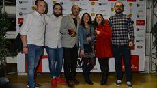 Luis Alberto Lera, Premio Maestros Hosteleros al Mejor Cocinero, junto a sus acompañantes.