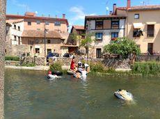 Aguilar de Campoo, Palencia.  Una actividad que se recuperó en Aguilar es el descenso de cámaras del Soto