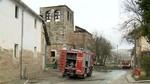 Un incendio acaba con la cubierta de la iglesia de Arraya de Oca, Burgos