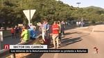 Los mineros de Astur Leonesa trasladan su protesta a la central t�rmica asturiana de Soto de la Barca