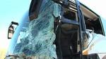 Once heridos leves y uno grave al colisionar un autob�s con un tractor y una empacadora en Benavente