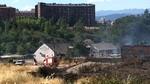 Un incendio calcina tres hect�reas y amenaza el poblado gitano junto al Sil en Ponferrada