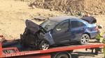 Una mujer muerta tras colisionar su turismo contra unos tubos de obra en La Lastrilla, Segovia