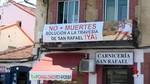 Los vecinos de San Rafael piden una solución al tráfico pesado por su travesía