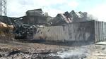 Controlado el incendio en la zona de producci�n de la f�brica Embutidos Rodr�guez de Soto de la Vega