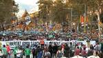 Alrededor de 450.000 personas se manifiestan por el autogobierno y la libertad de Sànchez y Cuixart