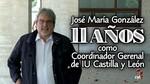 Jos� Mar�a Gonz�lez pone fin a sus 11 a�os al frente de la Coordinaci�n Regional de Izquierda Unida