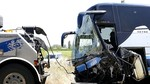 Muere un var�n al colisionar el turismo en el que viajaba con un autob�s en la N-120