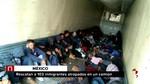 Rescatados 103 migrantes centroamericanos abandonados en un camión en México