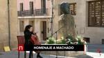 La ciudad de Soria homenajea a Antonio Machado en el 79 aniversario de su muerte