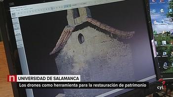 La Usal desarrolla drones que captan imágenes 3D con aplicación en patrimonio y arqueología