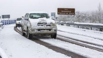 Toda la Comunidad, salvo Valladolid, está en fase de alerta por nevadas en carreteras del Estado