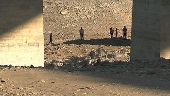 La sequía deja al descubierto los tres puente del Manzanal en Zamora