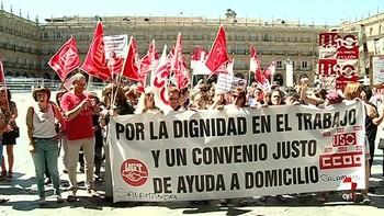 Las empleadas de ayuda a domicilio de Castilla y León piden mejoras salariales y más derechos laborales
