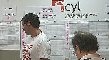 El n�mero de parados baja en 8.255 personas en Castilla y Le�n