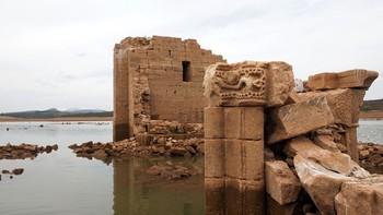 El patrimonio ahogado de Castilla y León sale a flote con la sequía