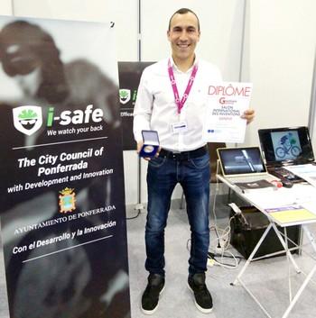 El ponferradino Iván Sánchez gana la medalla de plata en la Feria Internacional de Invenciones de Ginebra (Suiza)