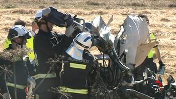 Dos muertos y cuatro heridos en una colisión entre un turismo, una moto y un camión en Quintanapalla, Burgos