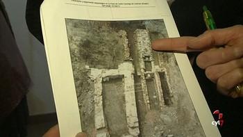 Salen a la luz los restos de la esgueva medieval en el subsuelo del Museo del Libro de Burgos