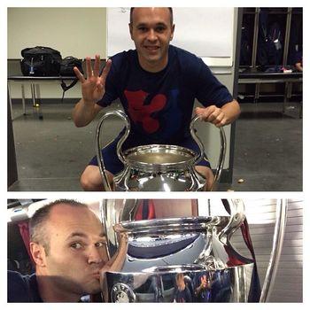 Iniesta: 'Era el día de Xavi y debía ser él quien levantara esta Champions'