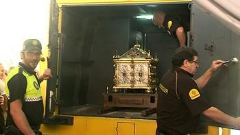 Los restos de San Íñigo regresan por unas horas a Calatayud, donde nació en el Siglo IX
