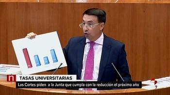 Las Cortes instan a la Junta a cumplir con la reducción de las tasas universitarias hasta la media nacional el próximo curso