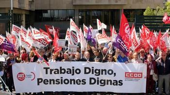 CCOO y UGT advierten que las movilizaciones por unas pensiones dignas se mantendrán hasta alcanzar un pacto de Estado