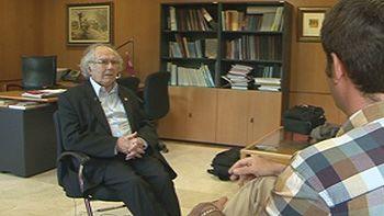 El activista argentino Adolfo P�rez Esquivel, invitado de honor en la Universidad de Valladolid