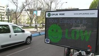 Madrid estrena dos radares que identifican a los vehículos más contaminantes