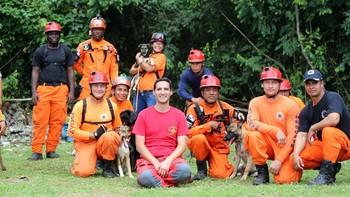 La Unidad Canina de Salvamento del Grem, referencia en Panamá