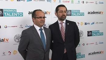 Los directivos de RTVCyL Eduardo Álvarez y Florencio Carrera, Premio Talento