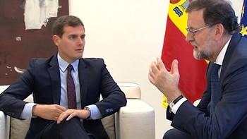 Rajoy y Rivera analizan en Moncloa la situación tras el 21-D