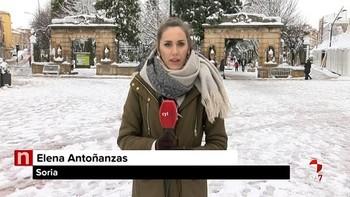 En Soria la nieve supera los 20 centímetros