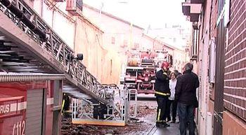 Investigan el origen del incendio en Medina del Campo