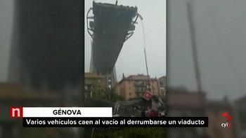 'Decenas de muertos' por el desplome de un puente en Génova, según el servicio de ambulancias