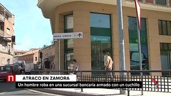 Detienen al hombre que atracó una sucursal bancaria en Zamora armado con un cuchillo de cocina