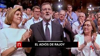 El PP despide a Rajoy con un vídeo sobre sus grandes hitos y con saludos de Merkel, May, Peña Nieto o Juncker