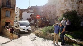 Zamora libera otros 25 metros de muralla medieval, un tramo del antiguo palacio de Doña Urraca