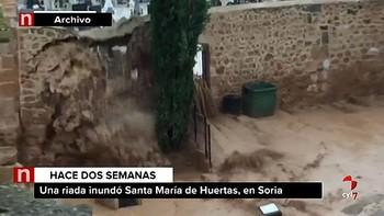 Santa María de Huerta intenta recuperar la 'normalidad' tras la riada