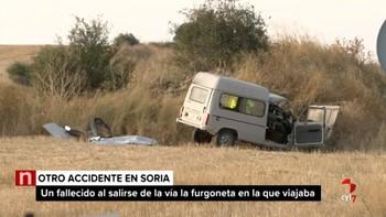 Una persona pierde la vida tras la salida de vía de la furgoneta en la que viajaba en Ólvega, Soria