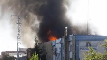 Declarado un incendio en una nave industrial en el polígono de 'El Cerro' en la ciudad de Segovia