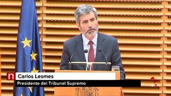 Lesmes critica los reproches 'censurables' a algunos magistrados por parte de responsables políticos