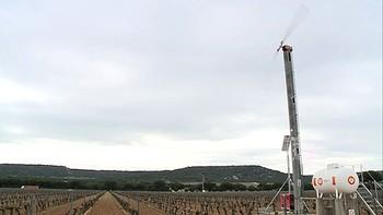 Un molino antiheladas, la solución para que muchos viticultores no pierdan la cosecha