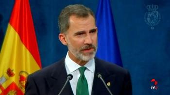 El Rey dice que 'España tiene que hacer frente a un inaceptable intento de secesión'