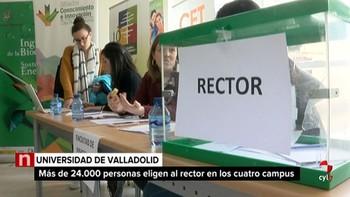 Casi 25.000 personas eligen al próximo rector de la Universidad de Valladolid